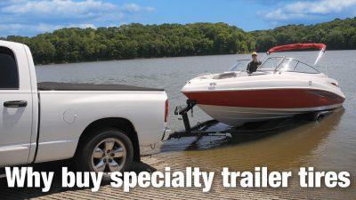 Specialty trailer tire vs. light truck or passenger tire