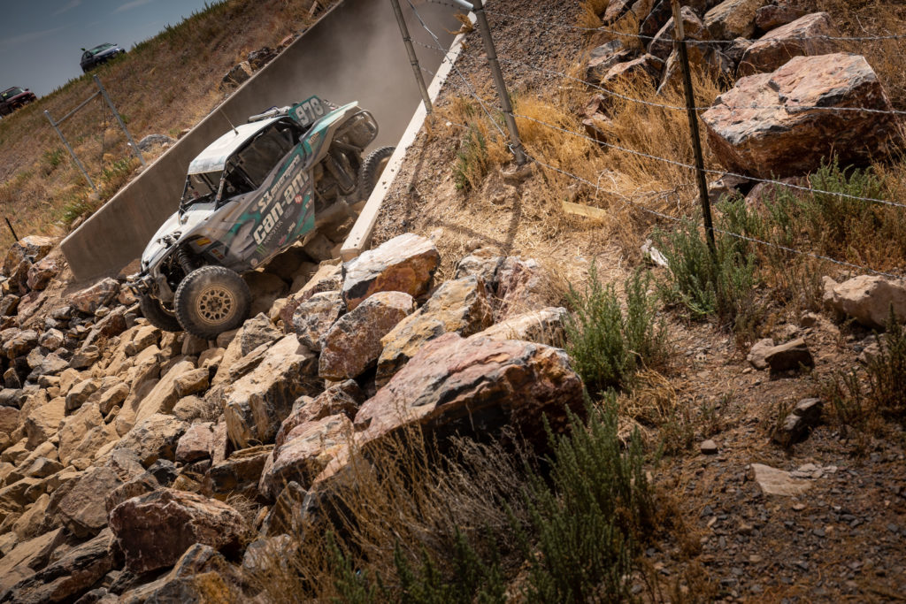 ITP racer Dustin Jones navigates his way through a rocky section